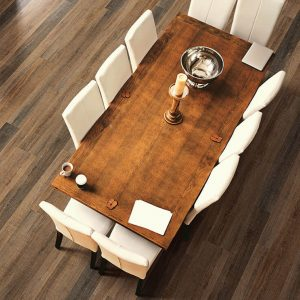 Dining room flooring | Design Waterville