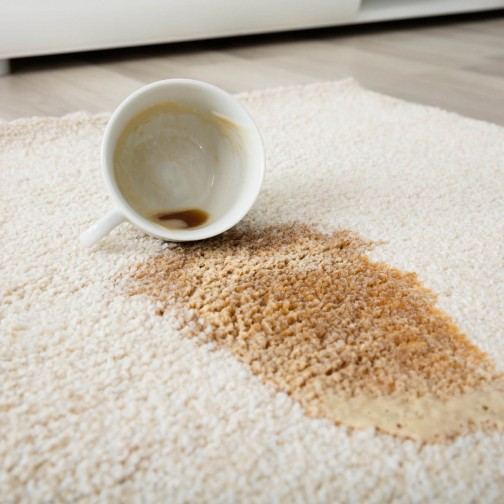 Coffee spill on area rug | Design Waterville