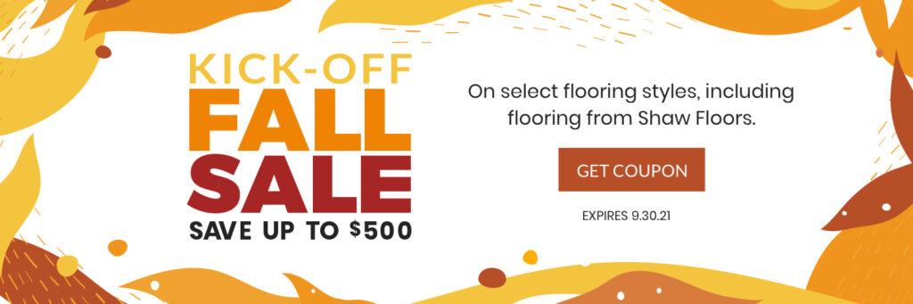 Kick Off Fall Sale